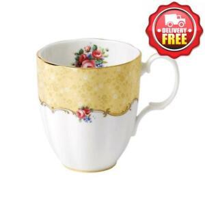 Royal Albert 100 Years 40017558 1990 Bouquet Mug 0.4L14.1floz Yellow, Bone Chin