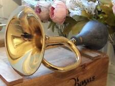 LARGE ANTIQUE DESIGN BRASS TAXI HORN VINTAGE CAB HORN MAKE SOME NOISE LOUD HOOT