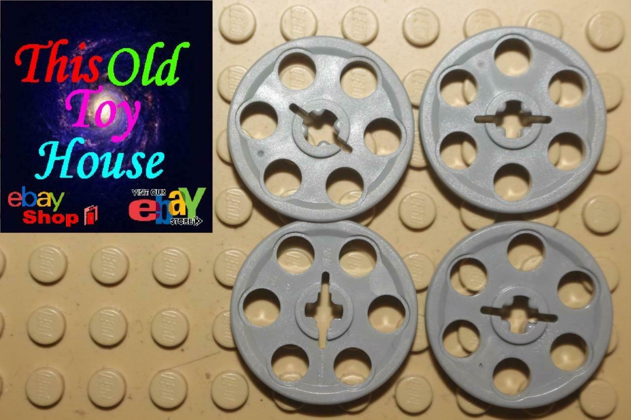 LEGO x 10 Tan Technic Wedge Belt Wheel Pulley 4185