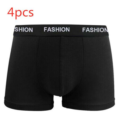4 Pack Fashion Men/'s Underwear Cotton Boxer Briefs Short Soft Underpants Knicker