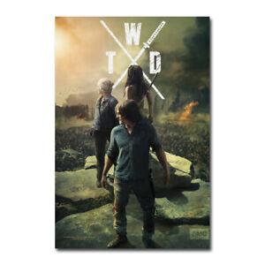 The Walking Dead Zombie TV Series Season 10 Silk Canvas Poster Print 24x36 inch