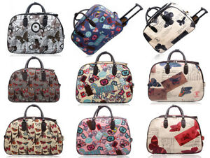 New-Flight-Approved-Butterfly-Print-2-Wheel-Carry-On-Travel-Suitcase-Luggage-Bag