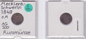 Münzen Münzen Altdeutschland Bis 1871 1/48 Taler Silber Münze Mecklenburg-schwerin 1848 121184