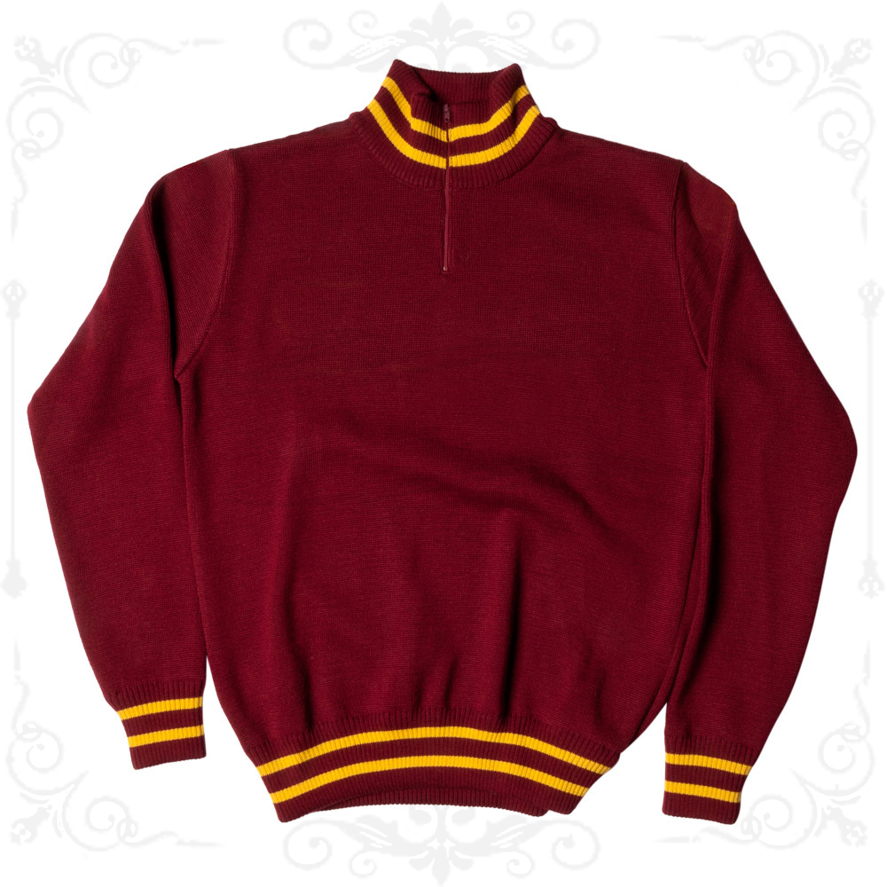 MAGLIONE PESANTE BORDEAUX PARIS Ciclismo Vintage Cycle Made in Italy Training