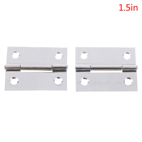 2pcs Heavy Duty Automatic Self Closing Spring Hinges Stainless Steel Door Hin HO