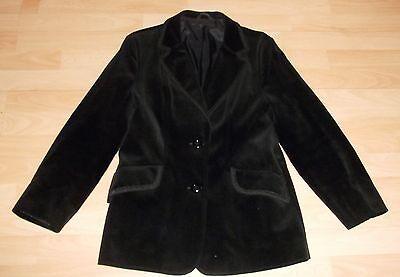 Vintage Goth Steampunk Victoriana BLACK VELVET tux style Blazer JACKET 12 14 16