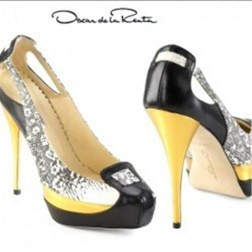 Oscar De La Renta Lizard Cutout Platform Pumps Heels Shoes Heels Pumps 36.5 EU $790 da62f1