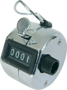 NEW-DOORMAN-SECURITY-POLICE-Chrome-TALLY-COUNTER