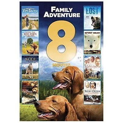 Family Adventure 8 Movies (DVD, 2013, 2-Disc) TOM SAWYER LOST SPIRIT BEAR WOLF