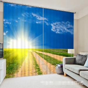 3d sol césped 5361 bloqueo foto cortina cortina de impresión sustancia cortinas de ventana