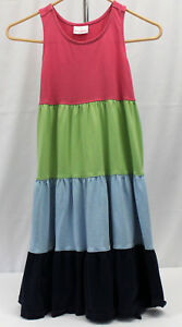 HANNA-ANDERSSON-size-140-or-10-BEAUTIFUL-Pink-Green-Blue-SLEEVELESS-Dress-140