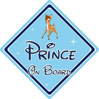 Baby On Board Disney Prince On Board Car Sign Mickey Mouse DB