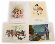 Vintage Lot  of 4 Frohe Weinacht Germany Postcards Unposted