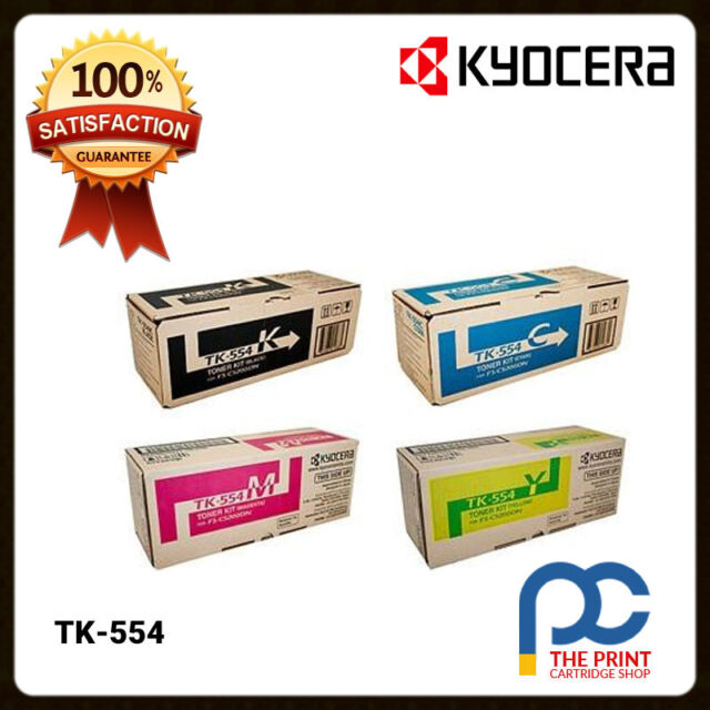 New & Original Kyocera TK-554 CYMK Toner Cartridge Set of 4 for FS-C5200DN