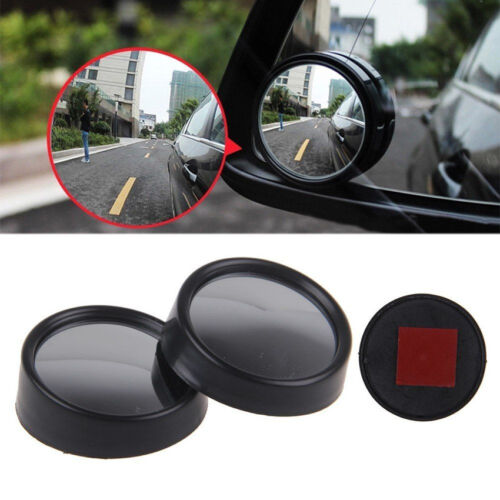 2 x Car Auto Driver Wide Angle Round Convex Mirror Blind Spot RearView