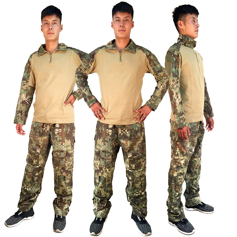 Python Frog Clothes Hunting Camouflage Clothing CS Combat Uniform Shirt Pants