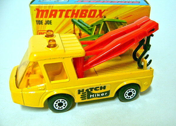 Matchbox SF Nr. 74B Toe Joe yellow  Hitch Hiker  Aufkleber top in Box