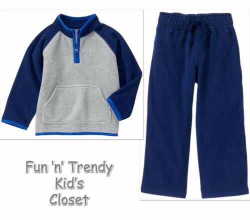 NWT Crazy 8 Boys Size 3T or 4T Fleece Half-Zip Raglan Pullover /& Pants 2-PC SET