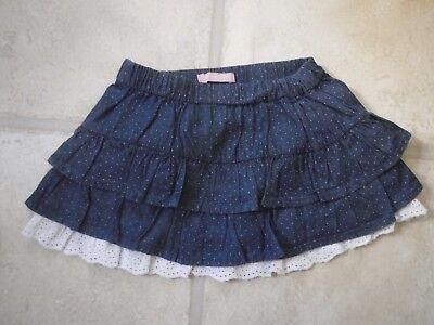 BNWT Girls Designer Villa Happ Layered Blue Jersey Skirt Ages 4 to 24 months.