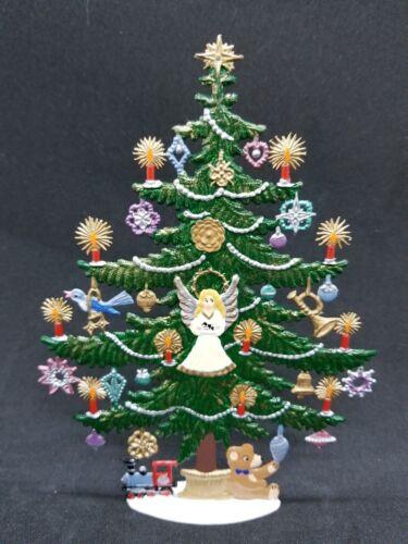 """ARTIST WILHELM SCHWEIZER GERMAN ZINNFIGUREN Decorated Christmas Tree 4.5/""""x6/"""""""