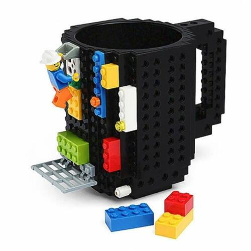 Coffee Mug Build Blocks Lego Tea Cup DIY Puzzle Drink 350 ml Kids Friend Gift
