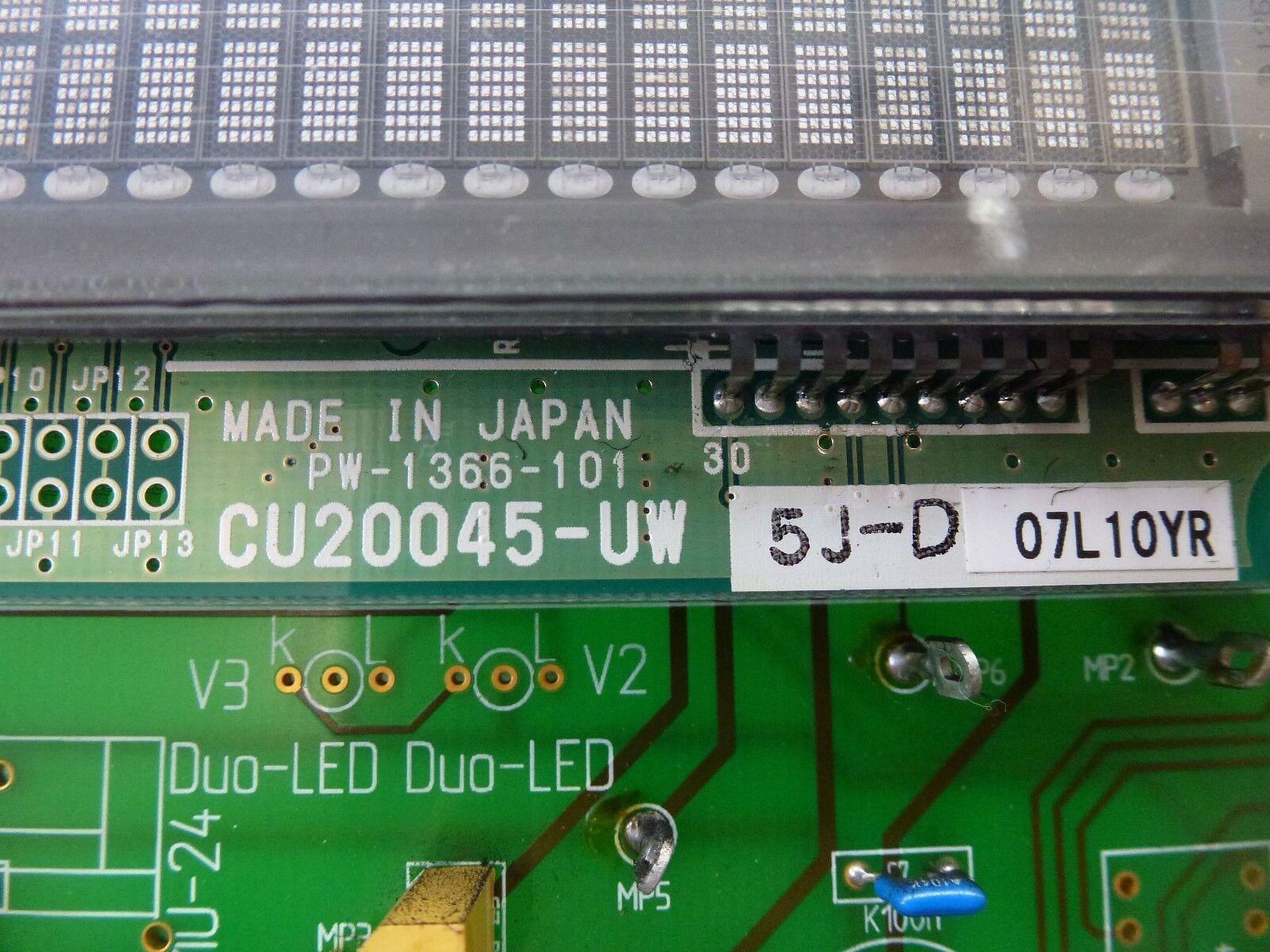 Itron 5J-D, CU20045-UW 5J-D, Itron Iton Noritake Affichage + HE288-1 Terminal de Commande 85bdbd