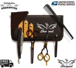 Hair-Cutting-Thinning-Scissors-Shears-Set-Hairdressing-Salon-Professional-Barbe
