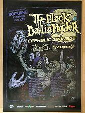 THE BLACK DAHLIA MURDER 2009  -  orig.Concert Poster  --  Konzert Plakat  A1 NEU