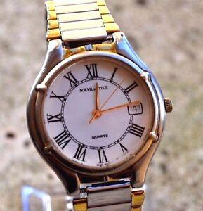 Uhren & Schmuck Armbanduhren Titus Uhr Retro Schweizer Solvil Et Titus Quarz Ritter Hohe Sicherheit