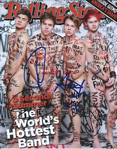 Image Is Loading 5sos 5 Seconds Of Summer Signed 8x10