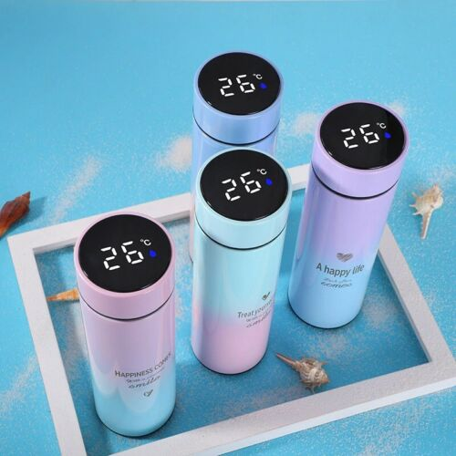 500ML Smart Thermos LED Digital Temperature Display S.Steel Water Bottle /& Mug