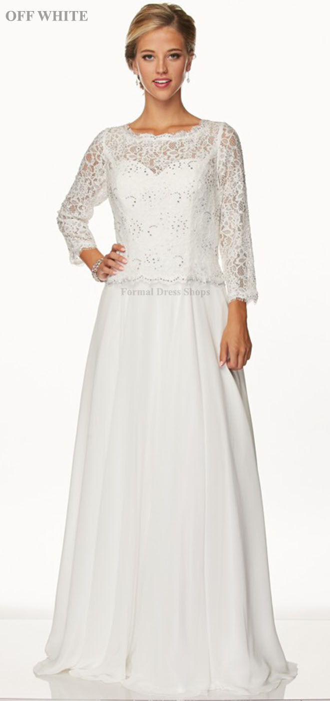 MOTHER OF THE BRIDE GROOM DRESS 3 4 SLEEVE FORMAL EVENING GOWNS WEDDING CHURCH