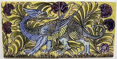 Metric Porcelain Tiles Art Nouveau Dragon Walls Floors Kitchen Bathroom