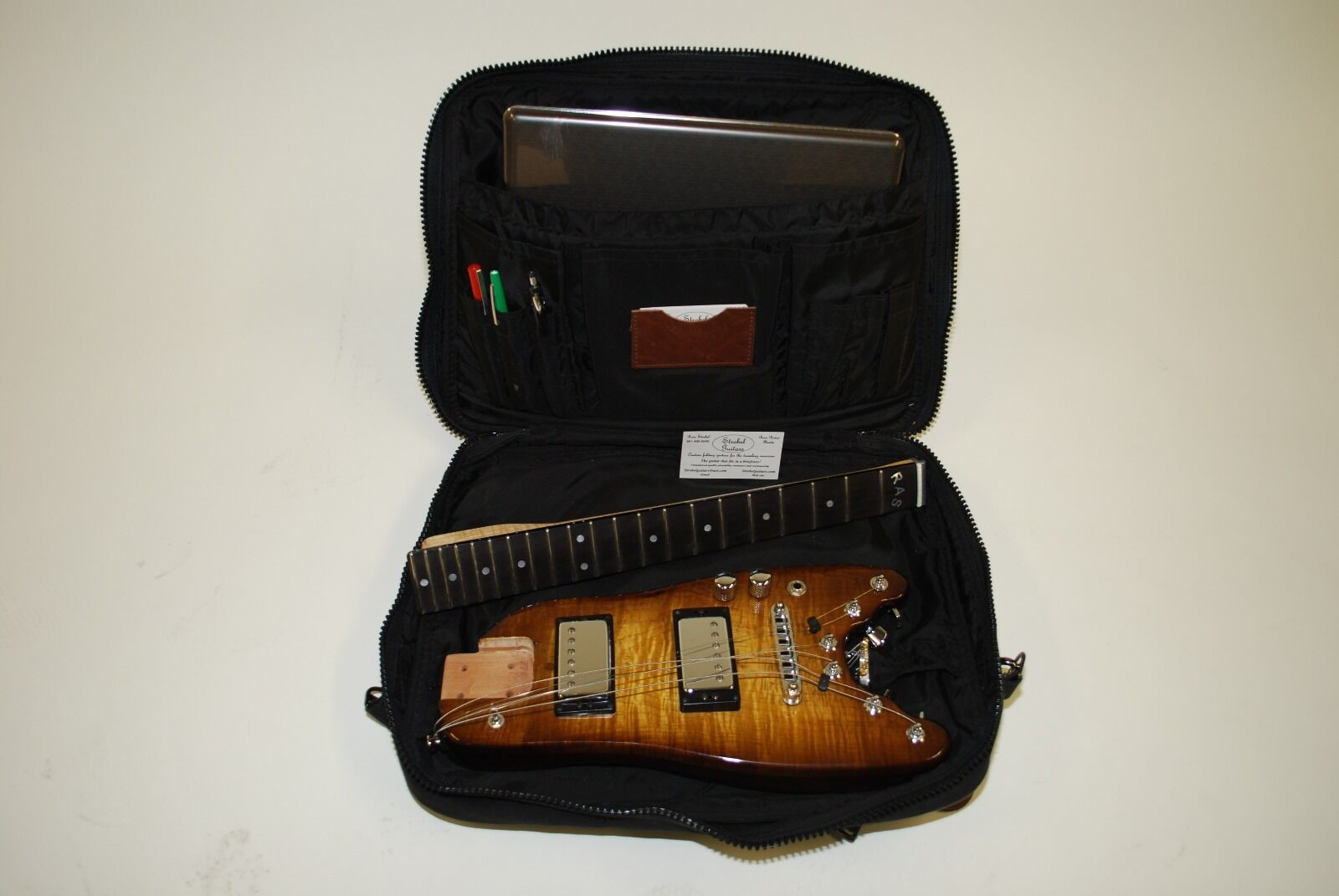 Strobel Rambler Professional Electric Travel Guitar (Tobacco Solburst)