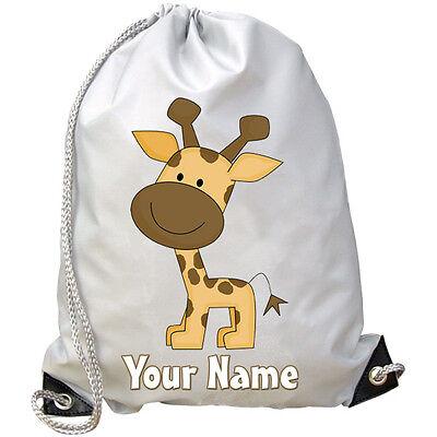 Giraffe Personalizzata Palestra / Pe / Dance / Nuoto Borsa-grande Regalo 4 Kids & Denominato 2-