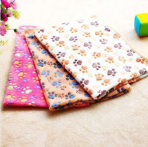 Soft-Fleece-Warm-Pet-Blanket-Small-Paw-Print-Cat-Dog-Puppy-Bed-Mat-Sofa-Cushion