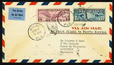 1931 FIRST FLIGHT MIAMI TO GUATEMALA VIA FAM 5-115 - C12 & C7 (ESP#1966)
