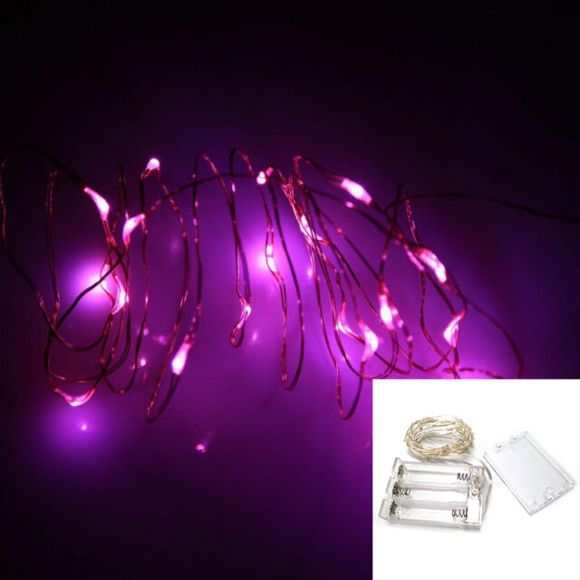 2M 4.5V.C.2W 20 LEDs Battery Operated Mini Copper Wire String Fairy Lights JC .C