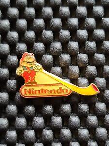Vintage Nintendo Employee Mario Alphorn  Switzerland pin badge lapel Rare Promo