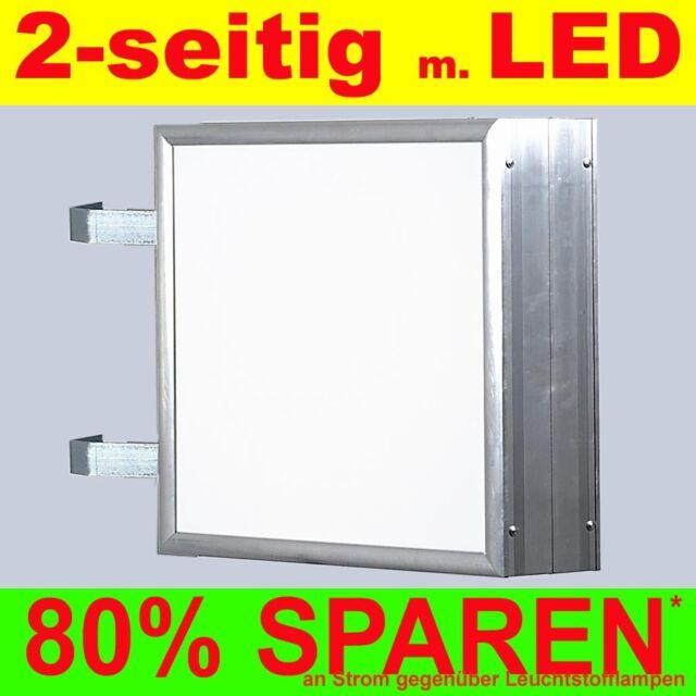LED Leuchtkasten 2-seitig beleuchtet 700 x 700 x 138 mm Aussteller Nasenkasten