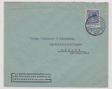 NEDERLAND - DUITSLAND 1937 / BRIEF VAN BULKEN EN VAN DORP LEEUWARDEN