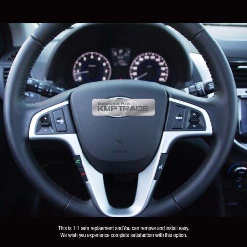 OEM Leather Steering Wheel Handle Audio Remote Control for HYUNDAI 2011-16 Verna