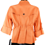 NWT-Anne-Klein-Orange-3-4-Sleeve-Button-Up-High-Neck-Draw-String-Jacket-Size-PS miniatuur 4