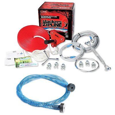 Brand 44 Slackers Eagle Series 90' Zipline Cable Trolley Kit w/ Seat & Brake NEW