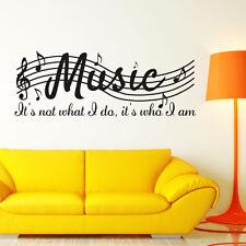 Rimovibile MUSICA non è Note Musicali Camera arte