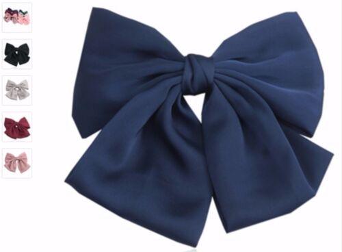 SCHLEIFE Haarschleife SATIN XXL Haarclip Zopfband verschiedene Farben EDEL