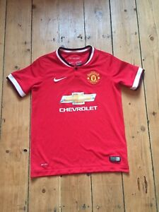 official photos 24fd9 1f3e1 Details about Kids Childs Manchester United Football Top Shirt Adidas Age  10 11 12 Years Mufc