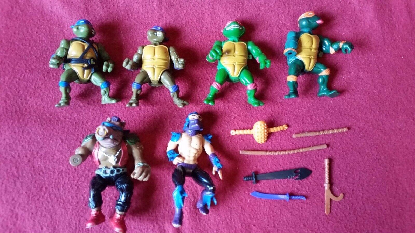 ¡LOTE 6  TORTUGAS NINJA 1980 retro action figure JOB LOT collection Ninja Turtle