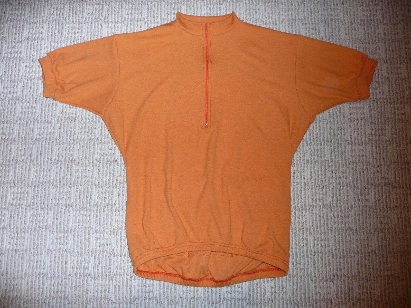 WOOL VINTAGE  RETRO CLASSIC  BIKE JERSEY  XL SHORT SLEEVE classic orange