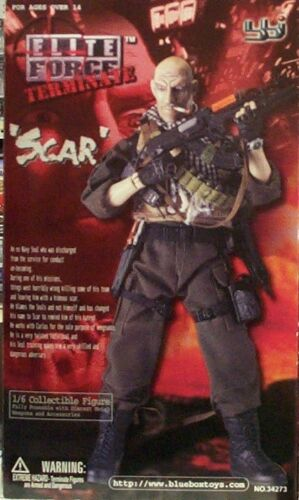 Blue Box 1:6 Elite Force Navy Seal Terminater Scar 12 in Mercenary Figure New